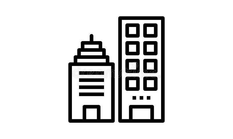 Imagem de construção do vetor do ícone do vetor ilustração stock
