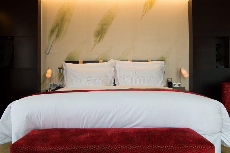 Imagem de descansos e da cama confortáveis foto de stock
