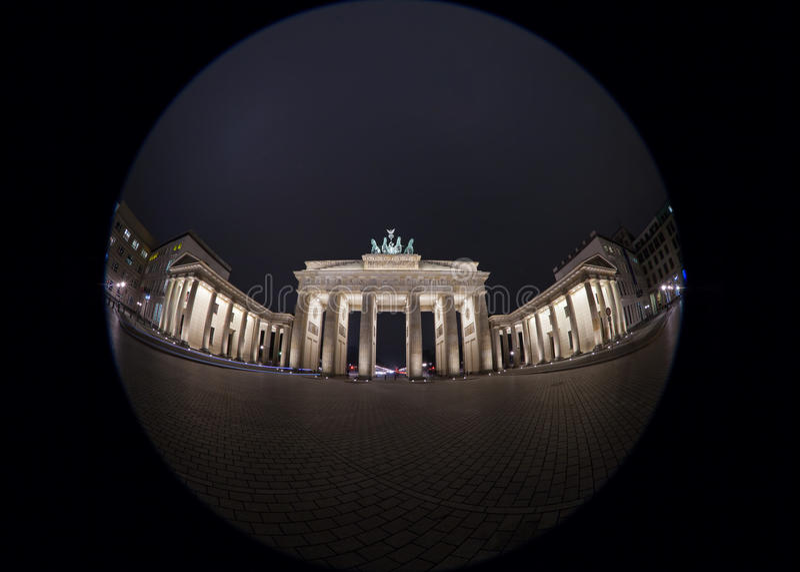 Imagem de Fisheye da porta de Brandemburgo foto de stock royalty free