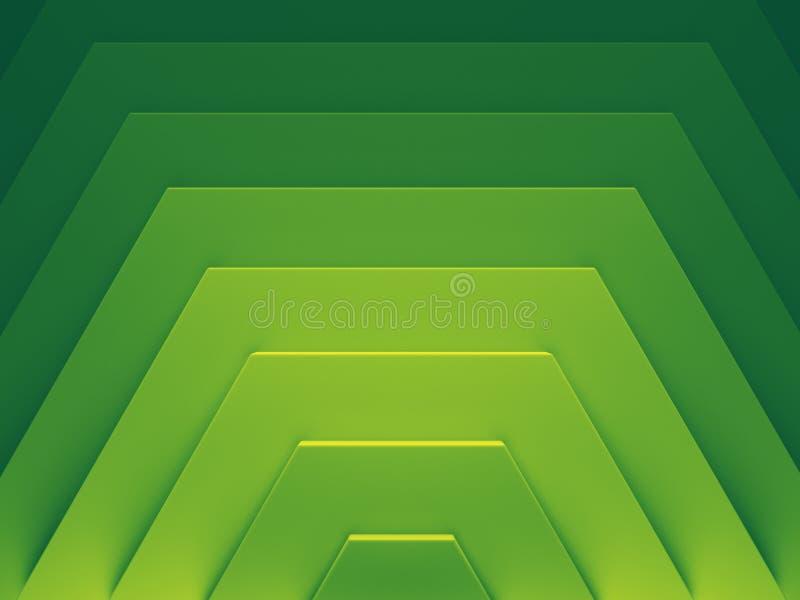 Imagem de fundo abstrata verde 3d ilustração do vetor