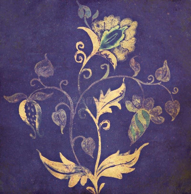 Imagem de fundo com elementos florais foto de stock