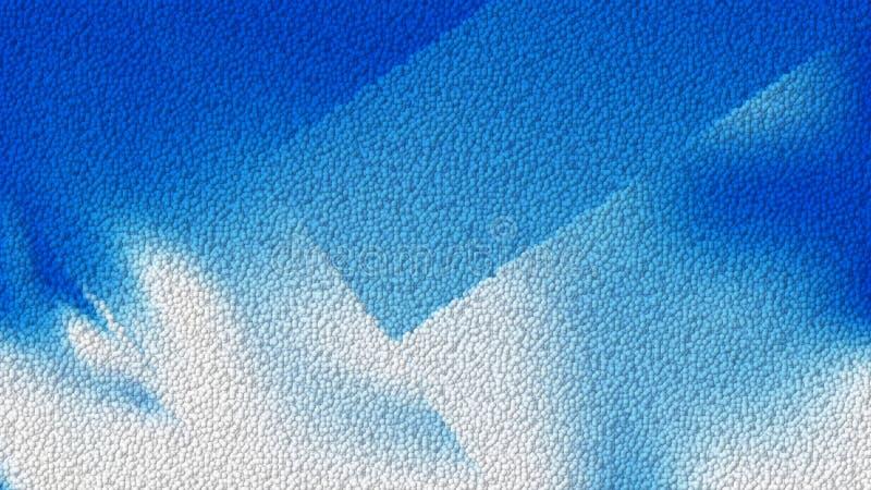 Imagem de fundo de couro azul e branca ilustração stock