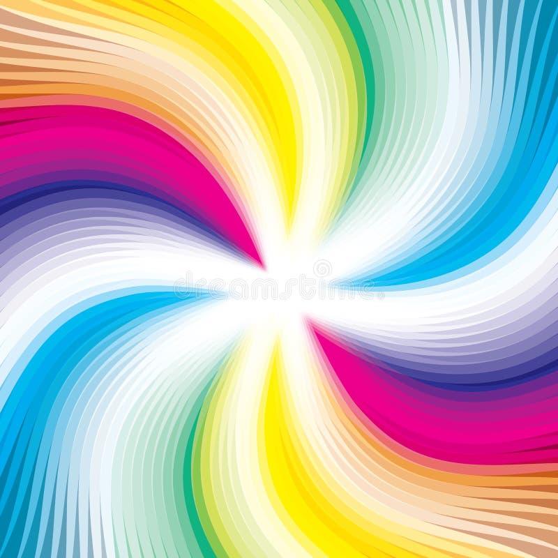 Imagem de fundo digital abstrata - linhas coloridas ilustração royalty free