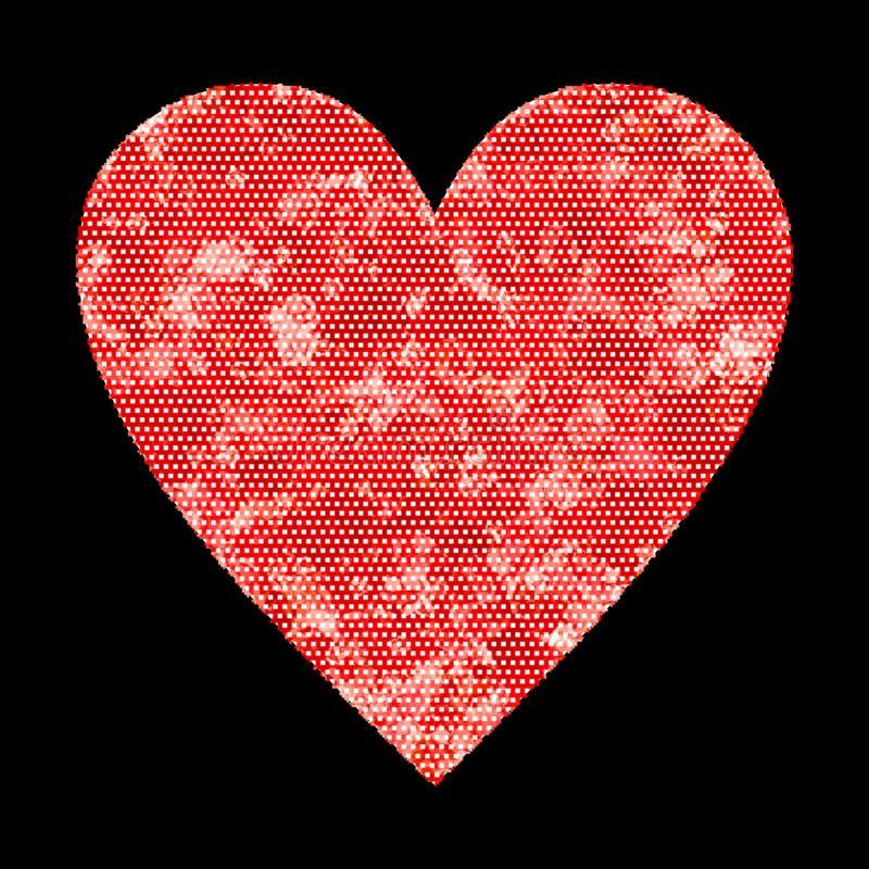 Imagem de fundo do coração e projeto vermelhos bonitos do papel de parede ilustração stock