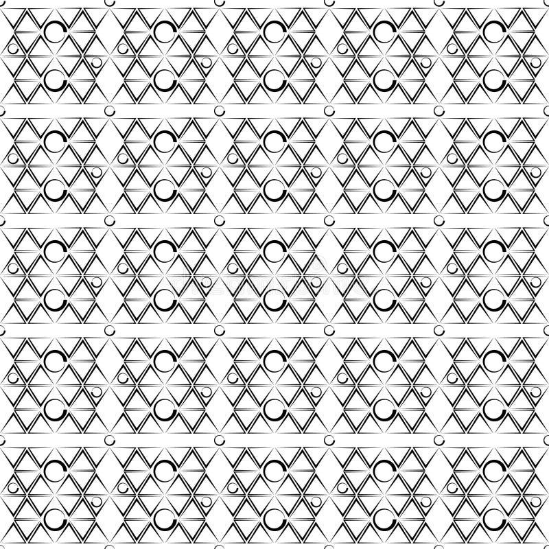Imagem de fundo do teste padrão do sumário da ilustração do vetor de um ornamento de formas geométricas sob a forma dos triângulo ilustração stock