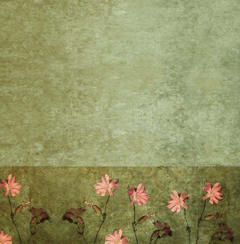Imagem de fundo Textured com flora imagens de stock royalty free