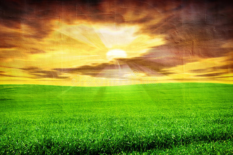 Imagem de Grunge da paisagem fotos de stock