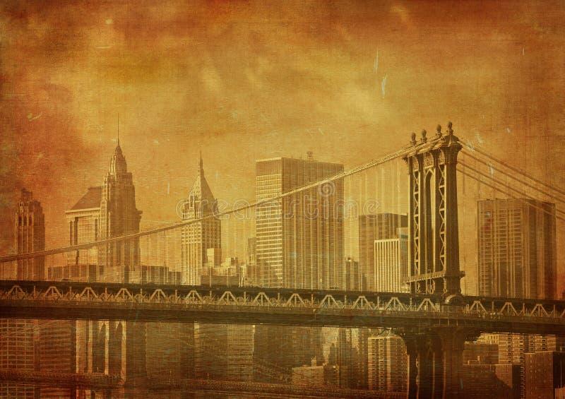 Imagem de Grunge de New York City ilustração do vetor