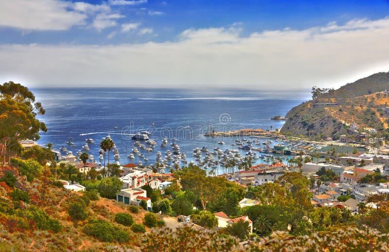 Imagem de HDR de Avalon Santa Catalina imagem de stock