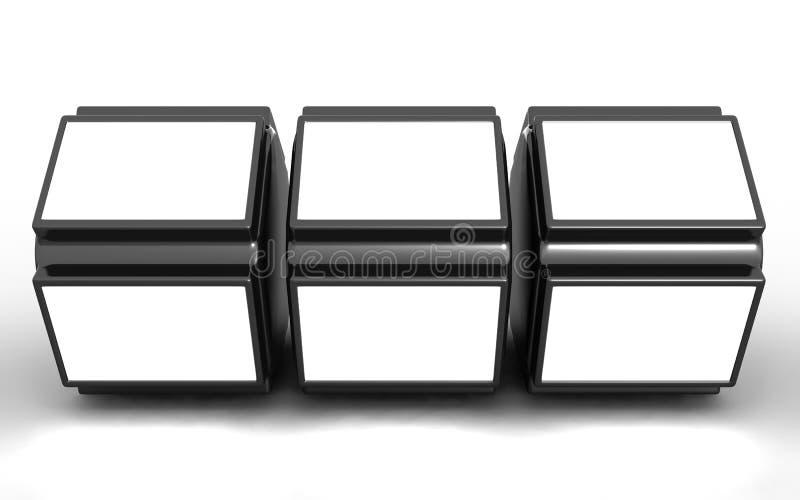Imagem de indicador do carrinho do frame da foto no espaço branco ilustração stock