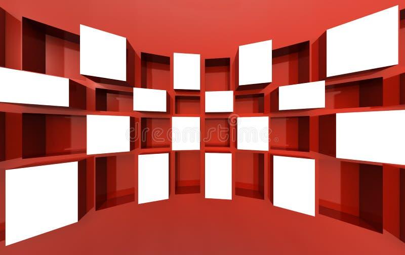 Imagem de indicador do frame da foto no espaço branco ilustração royalty free