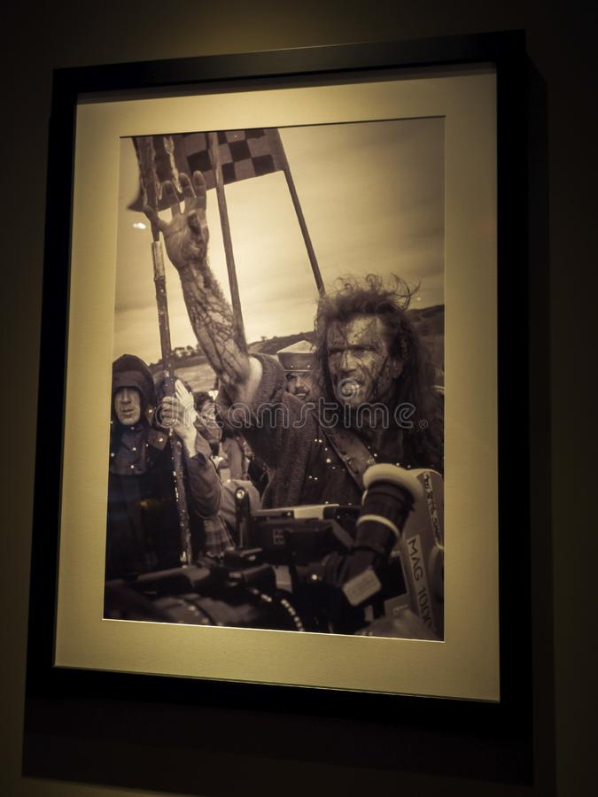 Imagem de Mel Gibson no filme de Braveheart na excursão no 14 de agosto de 2017 - Los Angeles de Paramount Pictures Hollywood, LA imagens de stock royalty free