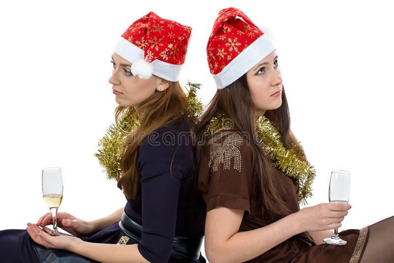 Imagem de mulheres de pensamento com os vidros imagem de stock