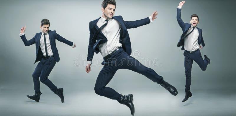 Imagem de Multiexposition do homem de negócios novo fotos de stock