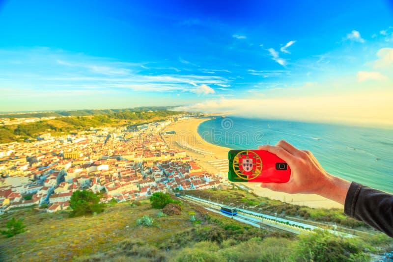 Imagem de Nazare Portugal imagens de stock royalty free