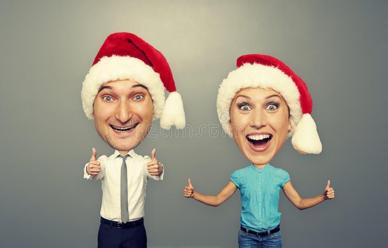 Imagem de pares felizes do convencido fotografia de stock royalty free