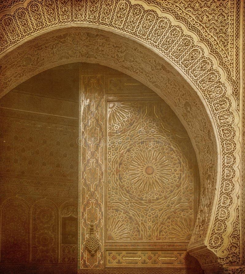 Imagem de portas antigas, Marrocos do vintage imagem de stock royalty free