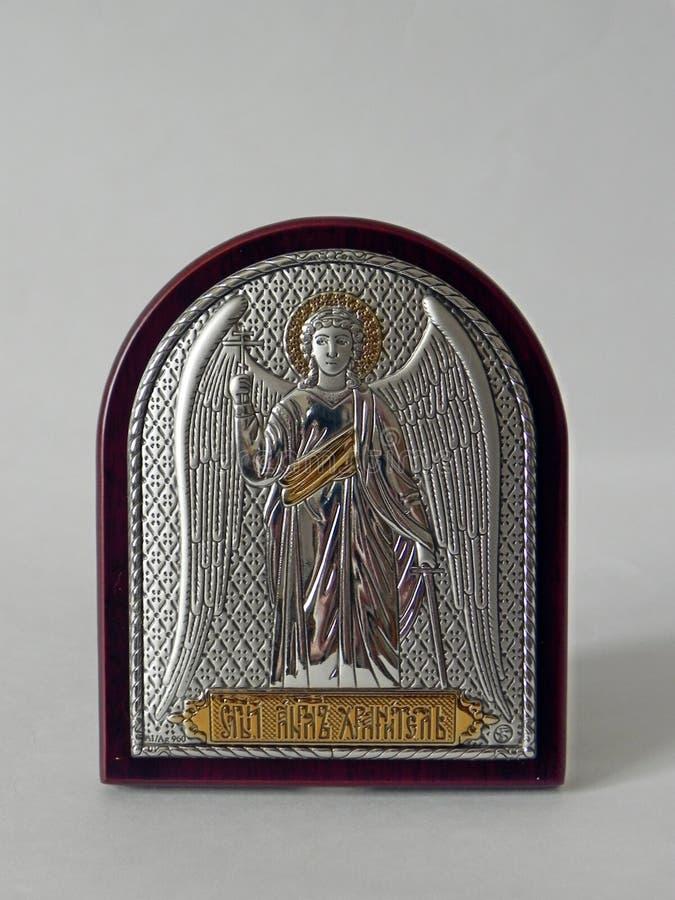 A imagem de Saint na imagem ?cone em um grupo bonito do presente Detalhes e close-up imagem de stock