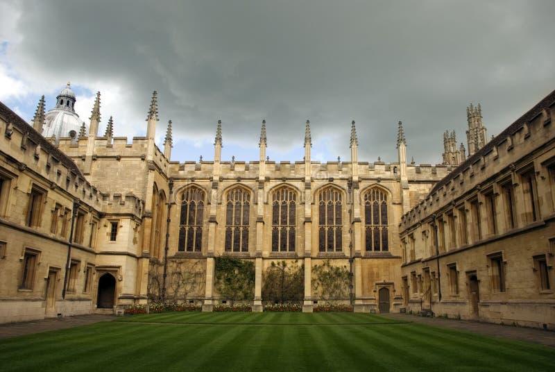 Imagem de todas as almas da faculdade, Oxford, reino unido foto de stock