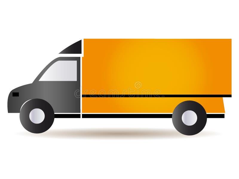 Imagem de um caminhão alaranjado do caminhão ilustração stock