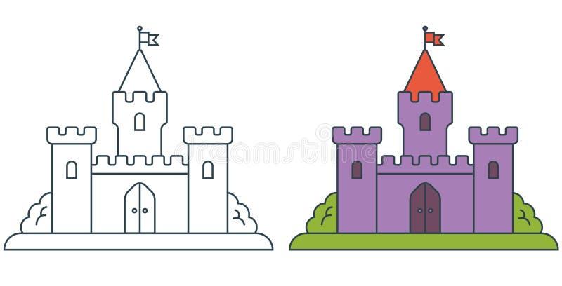 Imagem de um castelo medieval ilustração do vetor