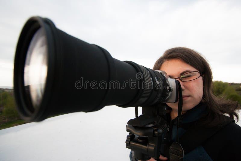 Fotógrafo Fêmea Imagem de Stock
