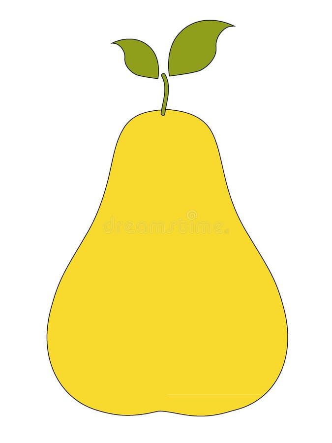 Imagem de um fruto da pera ilustração stock
