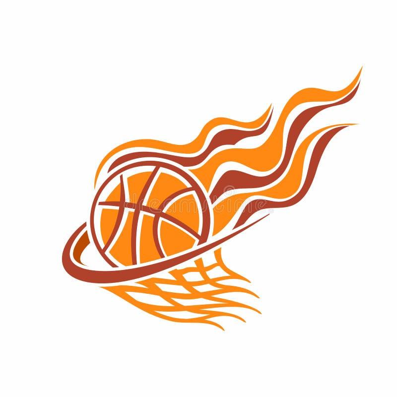A imagem de uma bola do basquetebol ilustração do vetor