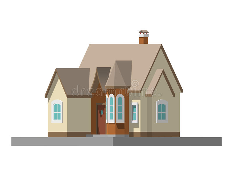 Imagem de uma casa privada Ilustração do vetor ilustração royalty free