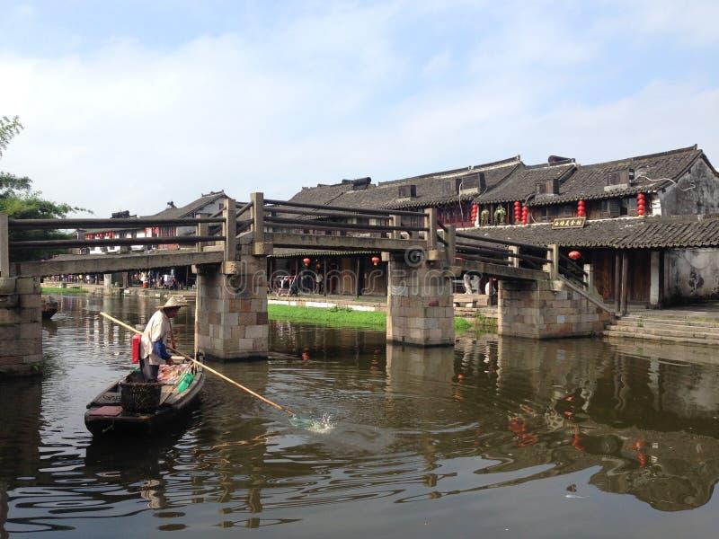 Imagem de uma cidade velha em Zhejiang, China fotografia de stock royalty free