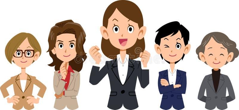 A imagem de uma equipe do negócio do ` s das mulheres ilustração stock
