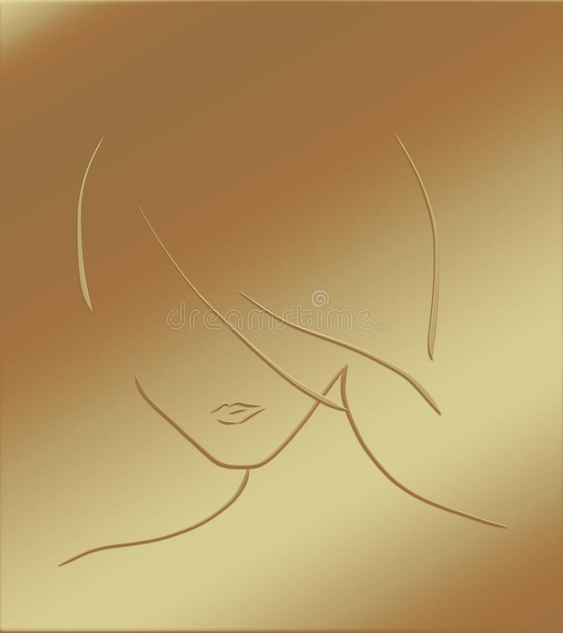 A imagem de uma menina à moda ilustração stock