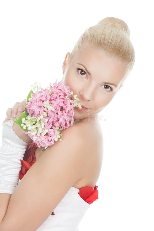 Imagem de uma noiva bonita foto de stock royalty free
