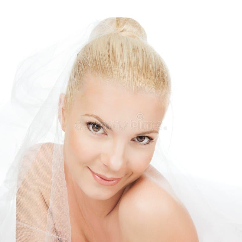 Imagem de uma noiva bonita fotos de stock royalty free