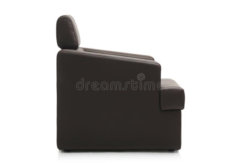 Imagem de uma poltrona preta moderna fotografia de stock royalty free