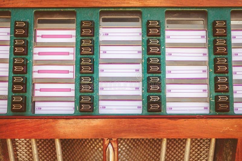 Imagem denominada retro de um jukebox velho foto de stock royalty free