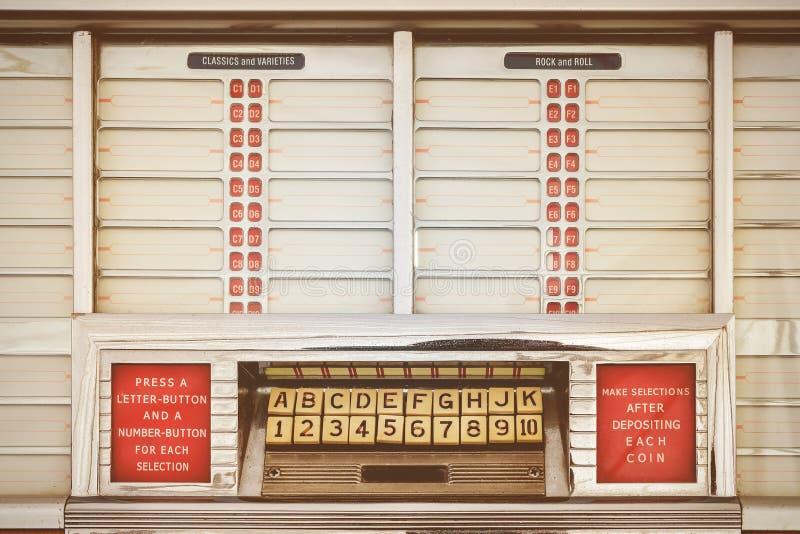 Imagem denominada retro de um jukebox velho imagem de stock