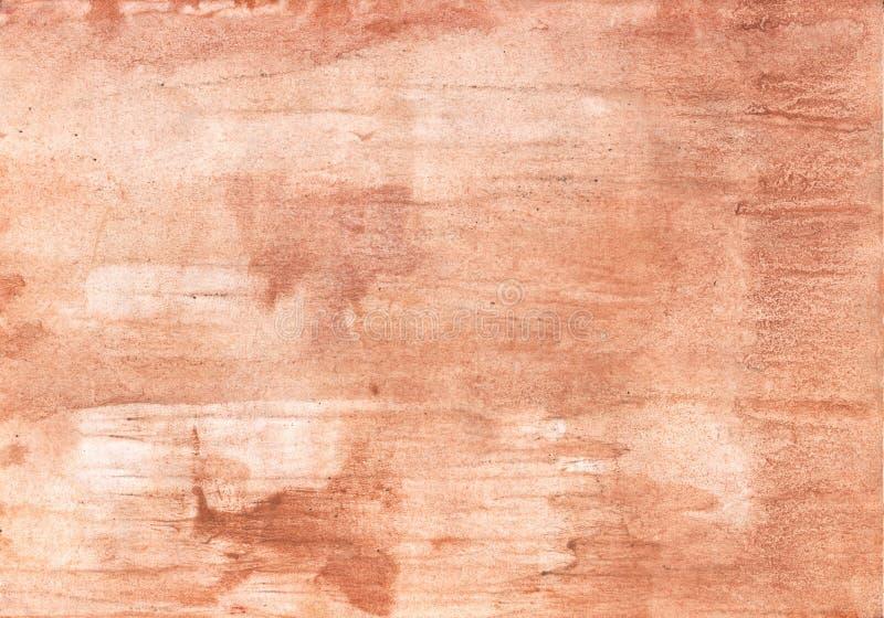Imagem desenhado à mão de madeira bem-constituído do aquarelle fotos de stock