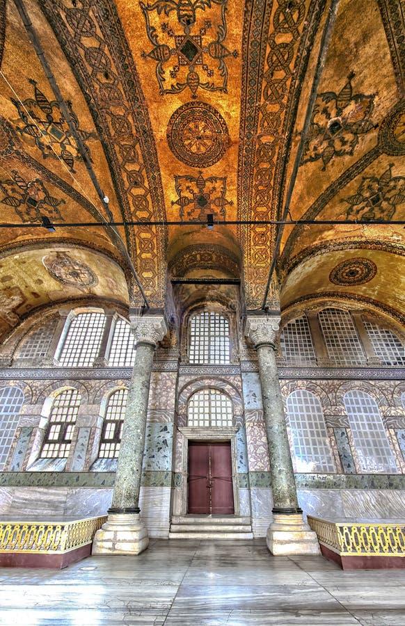Fron do detalhe o interior de Hagia Sophia imagens de stock royalty free
