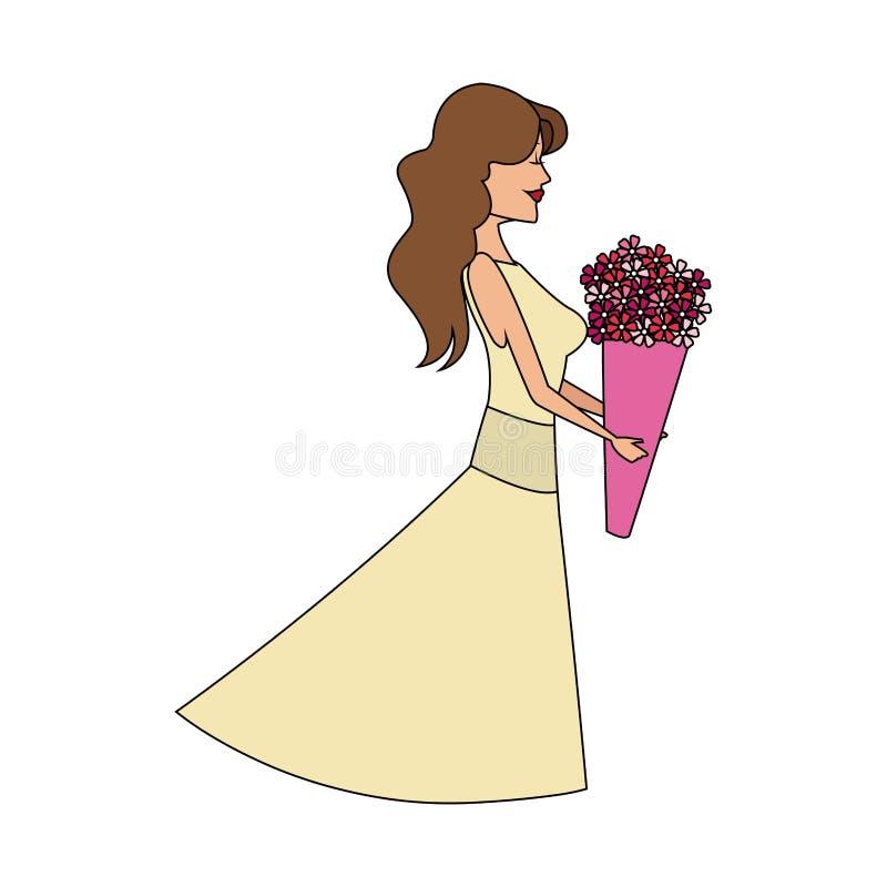 Imagem do ícone da mulher ilustração royalty free