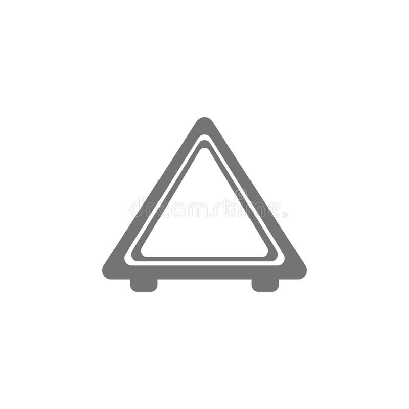 Imagem do ícone da parada de emergência do automóvel ilustração stock