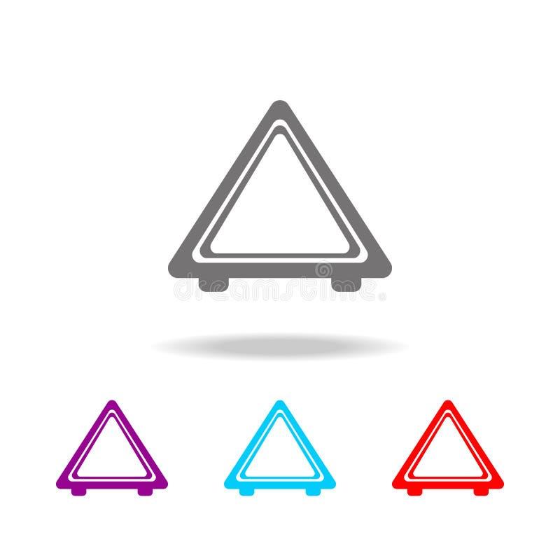 Imagem do ícone da parada de emergência do automóvel Elementos ícones coloridos do reparo do carro de multi Ícone superior do pro ilustração do vetor