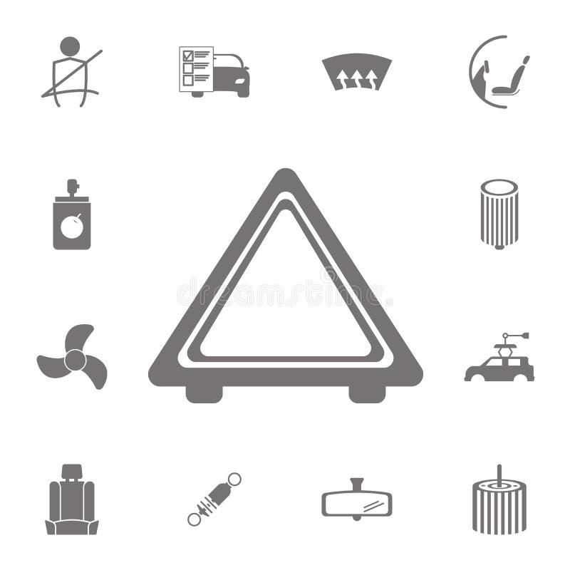 Imagem do ícone da parada de emergência do automóvel Grupo de ícones do reparo do carro Sinais da coleção, ícones simples para We ilustração do vetor