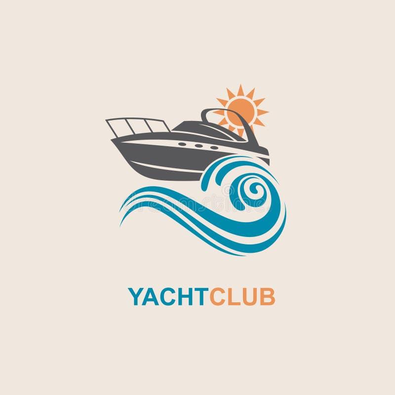 Imagem do ícone do barco a motor ilustração stock