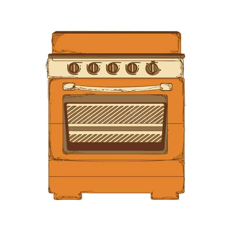 Imagem do ícone do fogão do forno ilustração royalty free
