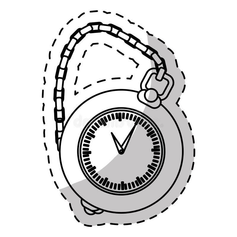 imagem do ícone do relógio de bolso ilustração do vetor