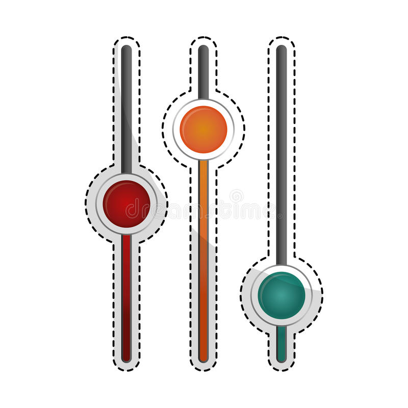 Imagem do ícone dos reguladores dos ajustes ilustração royalty free