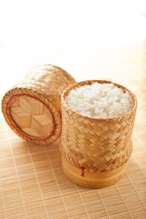 Imagem do arroz pegajoso imagens de stock