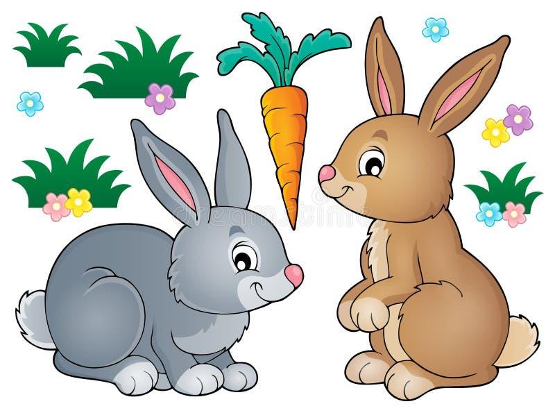 Imagem 1 do assunto do coelho ilustração do vetor