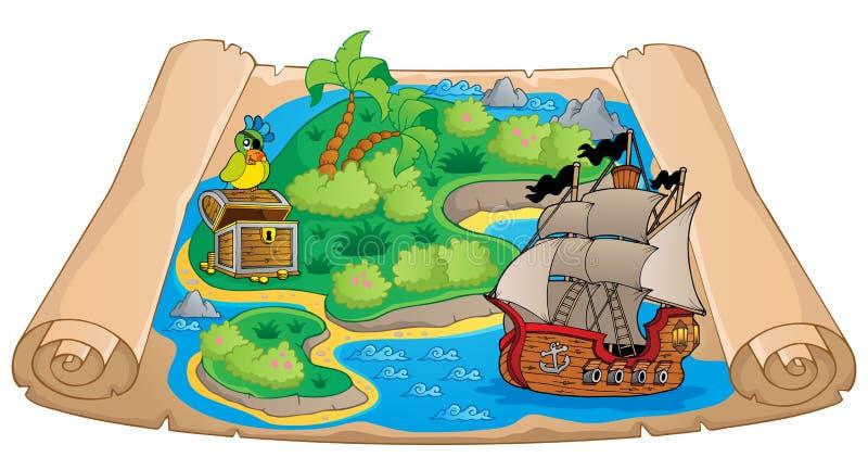 Imagem 6 do assunto do mapa do tesouro ilustração royalty free
